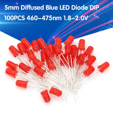 100 stücke 5mm Diffuse ROTE LED Diode DIP Runde Weitwinkel Durch Loch 2 Pin LED Licht Emittierende Diode lampe 1,8-2,0 V