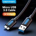 Vention Micro USB 3,0 кабель 3A быстрое зарядное устройство кабель для передачи данных мобильный телефон кабели для Samsung Note 3 S5 Toshiba Sony USB Micro B кабель