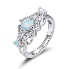 Уникальный круглый дизайн женских колец с мозаикой для свадебных