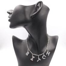 2021 tendência anjo prata cor alfabeto pingente divertido jogo instrução colar feminino charme festa clavícula corrente jóias acessórios