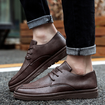 High Quality Brand Men Casual Shoes Hot sale Business Casual Shoes Men Breathable Spring Autumn Fashion Casual Men Shoes Black