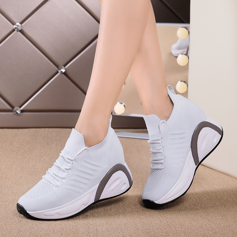 New Shoes Woman Sneakers Height Increasing Ladies Shoes Breathable Platform Women Vulcanized Shoes Zapatillas Para Mujer
