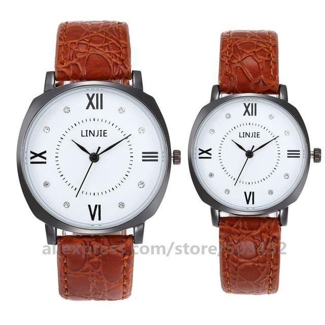 100 ピース/ロット LINJIE カップル男と女性のホット販売しているシンプルな王と女王腕時計ファッション新スポーツ愛好家腕時計