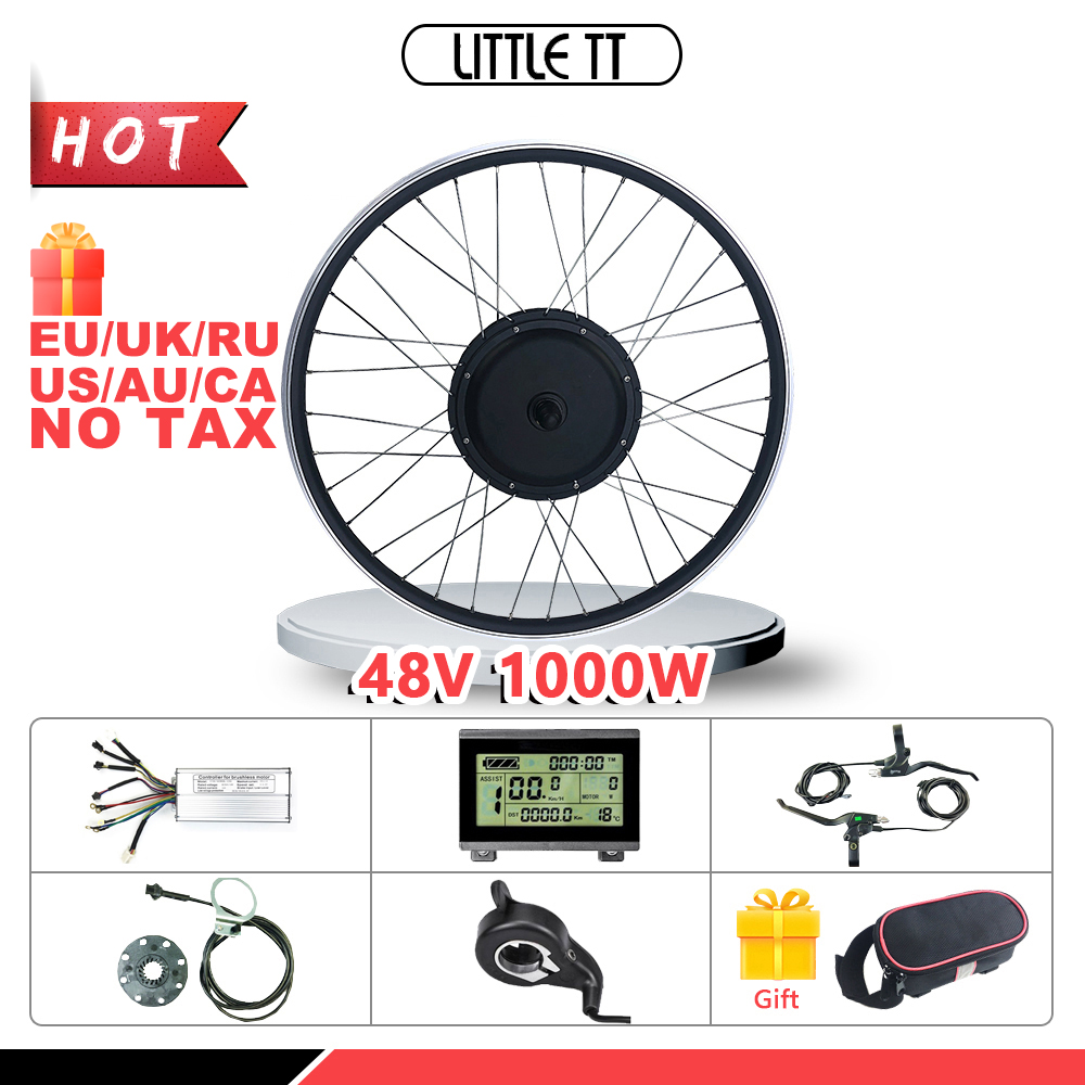 Ebike Conversion Kit 48V 1000W Front BLDC Hub motor Wheel 20-29 inch 700C for Electric Bicycle Conversion Kit