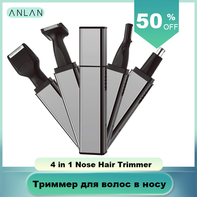 ANLAN Ear Nose Hair Trimmer Men Trimmer Face Eyebrow Nose Hair Removal Razor Eyebrow Trimmer Rechargeable Nose Clipper Shaver