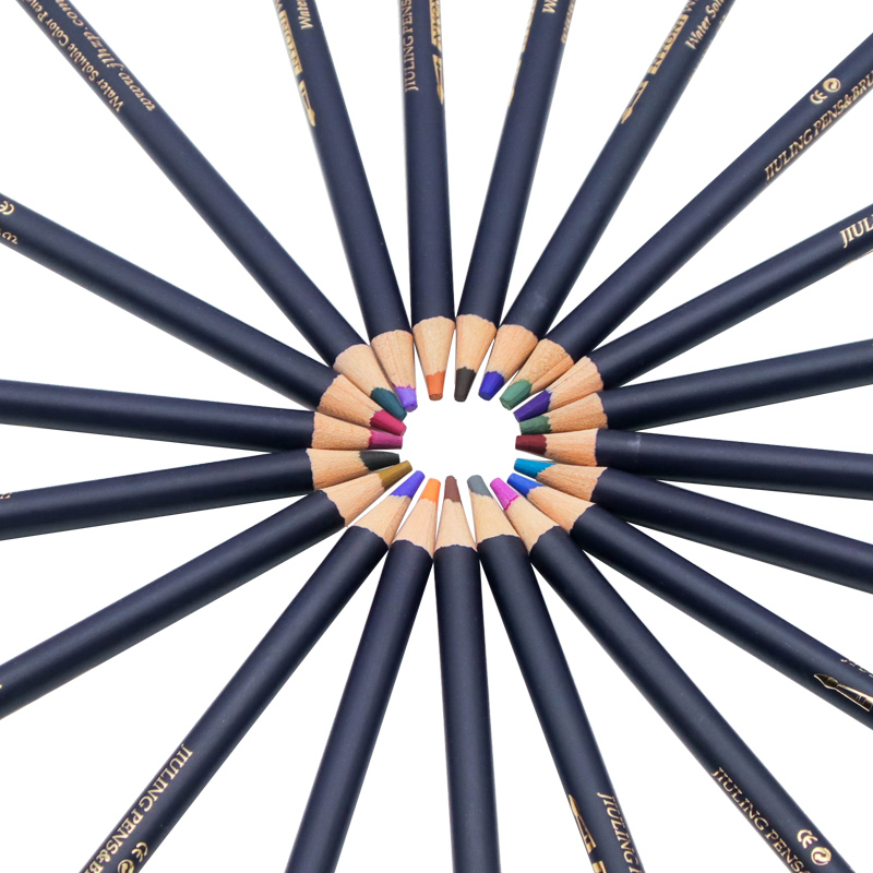 Watercolor Pencils Art Iron box Colored Pencil 24 36 48 72Colors lapis de cor Professional Pencils For Drawing School Supplies