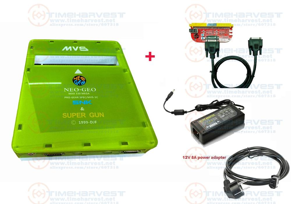 NEW VERSION 2 Functions CBOX MVS SNK NEOGEO CMVS + JAMMA SUPER GUN Play The Game Cartridge With SNK Joypad Or USB Joypad
