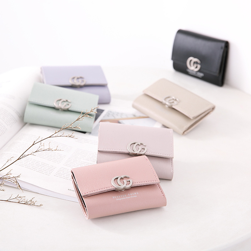 PU Leather Small Wallet Women Mini Women Wallets Purses Female Short Coin Zipper Purse Credit Card Holder Cartera Mujer