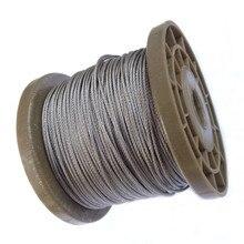 Гибкий трос из нержавеющей стали с покрытием из ПВХ, 5 метров, мягкий трос, прозрачный трос из нержавеющей стали, диаметр 1 мм, 1,5 мм, 2 мм, 3 мм, 7*7