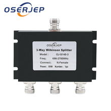 2G 3G 4G 698 2700mhz 3 Way Micro strip Power Splitter N Type 3 way Microstrip Power Divider for Mobile Phone Signal Booste