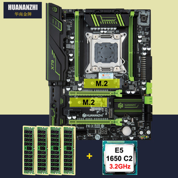 цена на HUANAN ZHI X79 motherboard with dual M.2 slot discount motherboard bundle CPU Intel Xeon E5 1650 3.2GHz RAM 16G(4*4G) DDR3 RECC