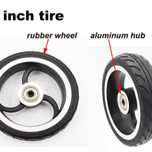 5 inch high quality  for electric motorcycle scooter tire rubber wheel and aluminum hub solid tire Inflation Wheel