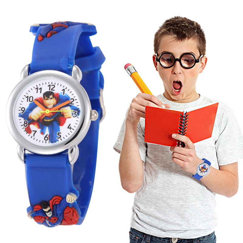 Children Cartoon Watch 3d Cartoon Image Silicone Strap Boy Girl Casual Fashion Quartz Wristwatch Time View Clock Kid Watches