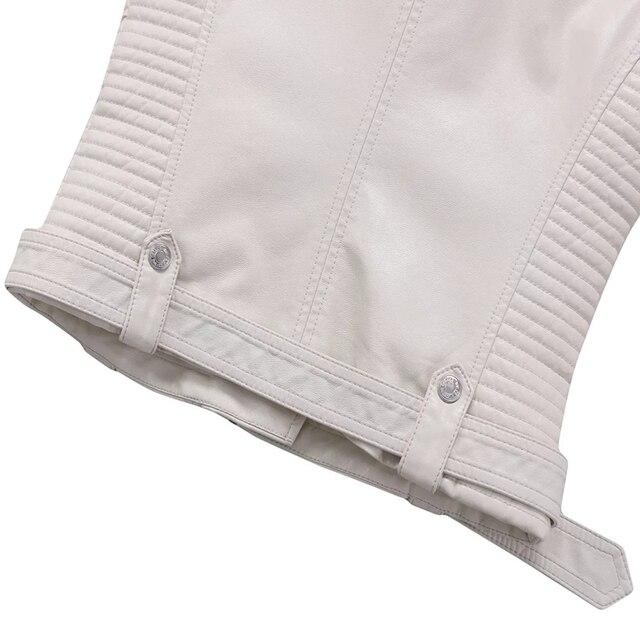 куртка авиатор из овчины укороченные кожаные куртки зимнее пальто фотография