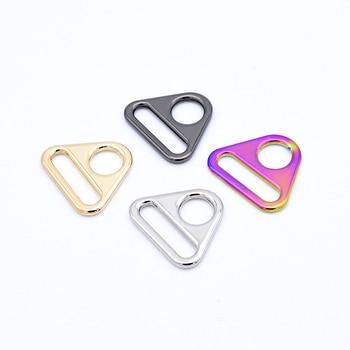 5x  Ivoduff Metal Adjuster Buckles Bag Belt Slider Buckle Triangle Shape Rotary clip metal ring Luggage bag Accessories Hardware