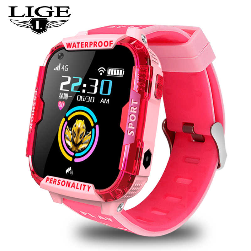 LIGE2019 New Children Smart Watch Wifi Connection Video Call SOS one button Help 4G SIM Card GPS Location Tracker Children Watch