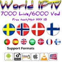 IPTV abonnement frankreich Dutch Spanien Erwachsene XXX neo tv pro Stabile et lisse Welt IPTV 7000 live für TV box android box smart tv