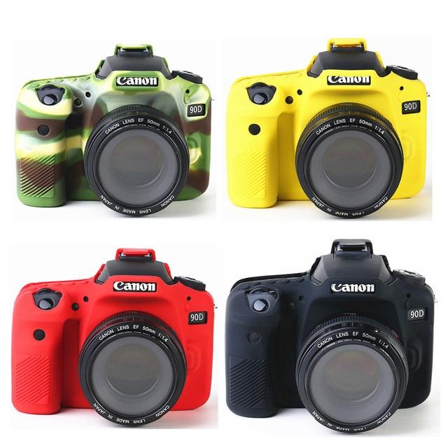 סיליקון שריון עור מקרה גוף כיסוי מגן עבור Canon EOS 90D DSLR מצלמה