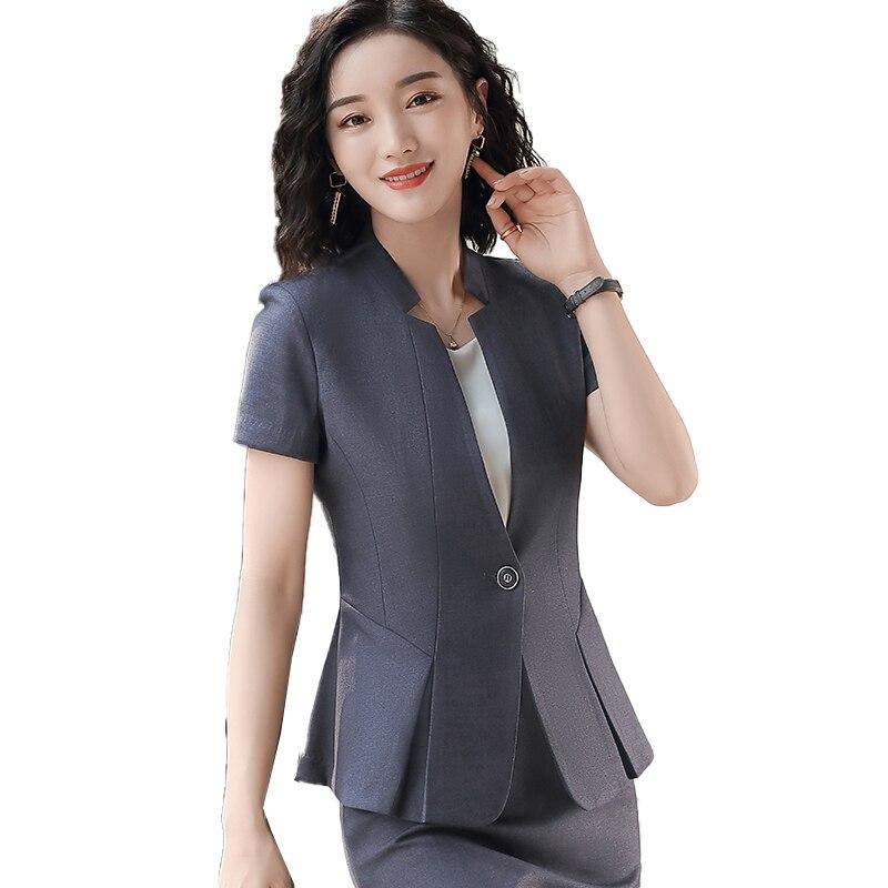Summer Fashion Ladies Black Blazer Women Short Sleeve Female Elegant Formal Office Work Wear Styles Blazers and Jackets Clothes