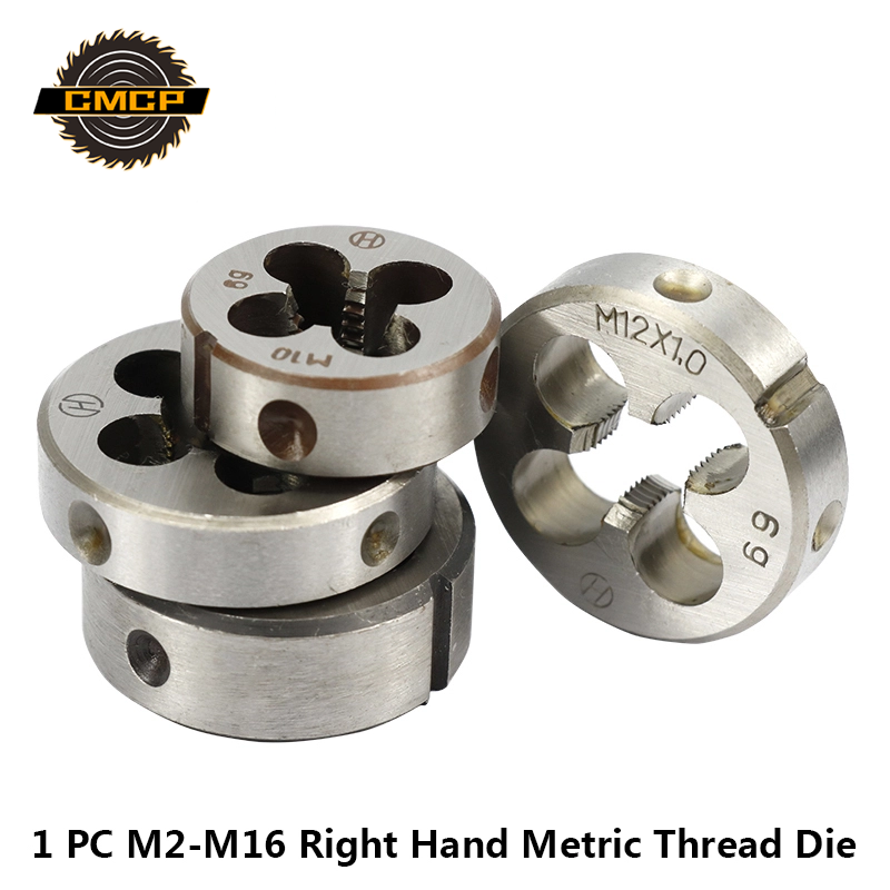 1pc M2 M6 M7 M8 M10 M12 M13 M14 M16 Right Hand Thread Die Metric Screw Die Threading Tools Round Threading Die