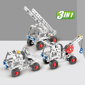 Building-Block City-Engineering Metal with Tools Brick Children Educational-Toy Disassembly