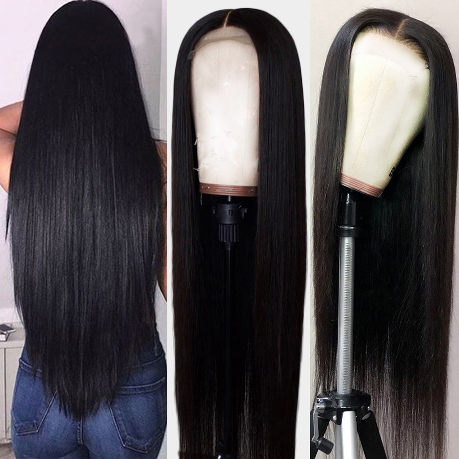 Straight Lace Frontal Human Hair Wigs Free Part Brazilian Hair Wig 10
