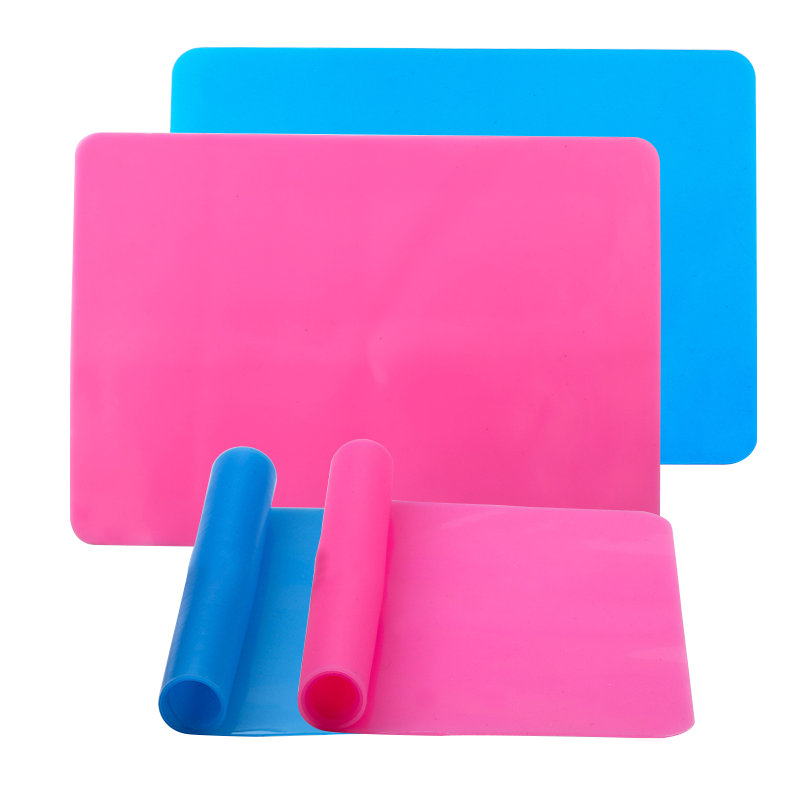 1PCS Safe Silicone Workbenches Epoxy Resin Molds Accessories For Epoxy Jewelry Making Supplies Blue&rose Color