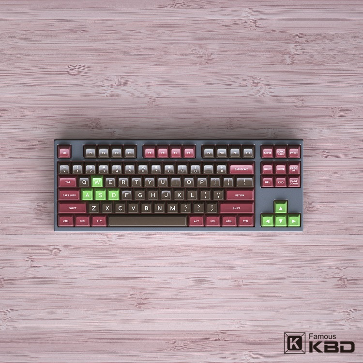Maxkey SA keycap retro suit pig liver two color ABS material is suitable for most mechanical keyboards