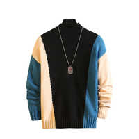 Christmas Men Striped Sweaters Winter Clothes 2019 Plus Size Asian 5XL 6XL 7XL Japan Knitted Style Casual Standard Pullovers
