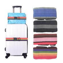 1.8m Travel Bag Luggage Strap Suitcase Adjustable Belt Carry On Backpack Rope Luggage strap belt Outdoor Tools Camping Hiking(China)