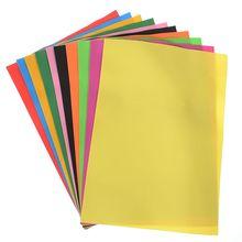 10 Sheets Multicolor A4 Sponge Eva Foam Paper Kids Gift Handmade Diy Sponge Paper Hand Craft Wedding Party Supplies