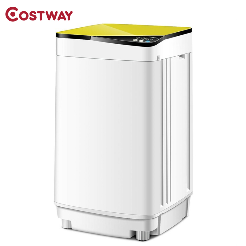 Costway High Quality Full-automatic Washing Machine 10 Lbs Washer / Spinner Germicidal Mute Save Water Washing Machine EP24311