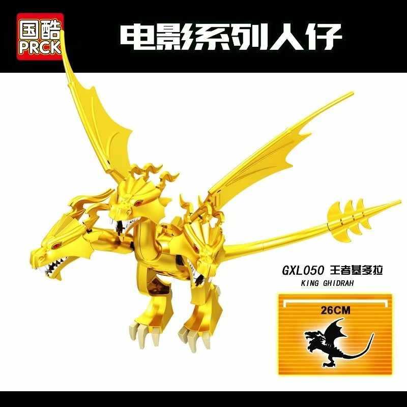 Solo Legoing Monsters Kings películas King Ghidrah figuras bloques de construcción juguetes y pasatiempos Super Héroes modelos Kits Legoings película