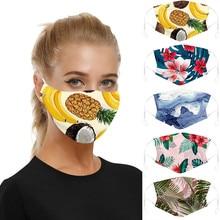 Universal Adults Cotton PM2.5 Anti Haze Maske Dust Mouth Filter Mouth-muffle Anti-ultraviolet Print