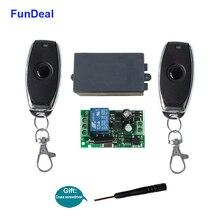 FunDeal 433 MHz ไร้สายรีโมทคอนโทรลสวิตช์ AC 110V 220V รหัสการเรียนรู้ 1CH RF รีเลย์ตัวรับสัญญาณโคมไฟ light CONTROLLER