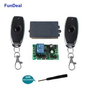 Image 1 - FunDeal 433 Mhz universel sans fil télécommande commutateur AC 110V 220V Code dapprentissage 1CH RF relais récepteur lampe contrôleur de lumière