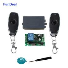 Универсальный беспроводной пульт дистанционного управления FunDeal, 433 МГц, 110 В, 220 В перем. Тока, 1CH RF релейный приемник, светильник, контроллер