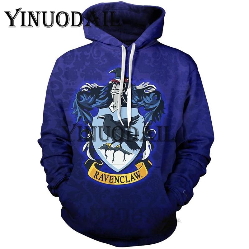 Wizardry 3D Printed Hoodie with Pocket Ravenclaw Gryffindor for Adult Unisex Sweatshirt Costume Hoodies Men Clothes in Hoodies amp Sweatshirts from Men 39 s Clothing