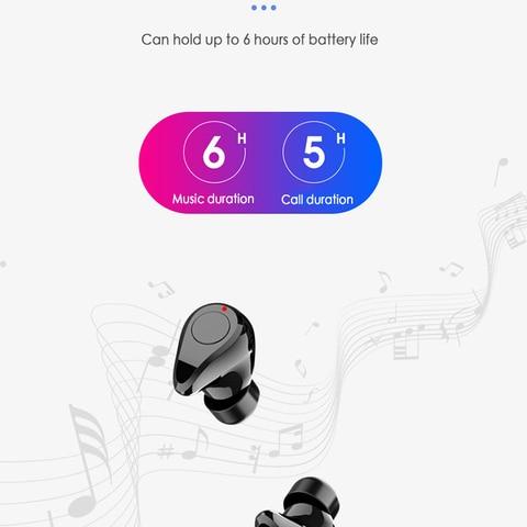 Bluetooth 5.0 Headset TWS Wireless Earphones Earbuds Stereo In-Ear r6t Islamabad