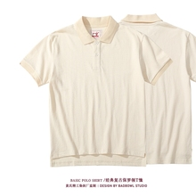 Mens Polo Shirts with Short sleeve Vintage Golf Mens Branded Polo shirts for Men Original Embryo Color Natural Healthy Cotton