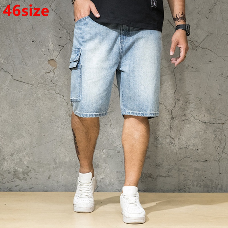 Summer Men's Denim Shorts Loose Japanese Plus Size 6XL Shorts Casual Thin Section Tide 46 44 42 40