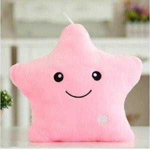 Image 3 - 40*35cm stelle luminose cuscino di peluche per bambini regalo di compleanno morbido cuscino per animali cuscino per bambini cuscino colorato a Led