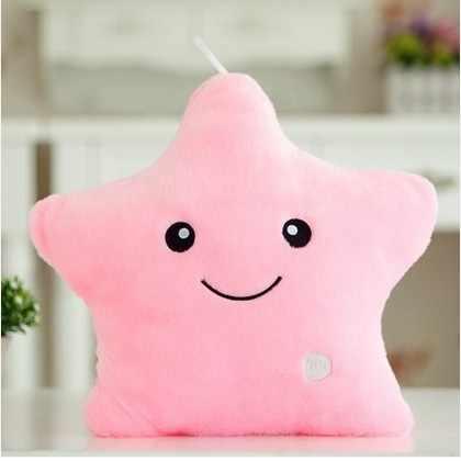 Cuscino in peluche con stelle luminose 40*35cm per bambini regalo di compleanno cuscino morbido per animali cuscino per bambini cuscino colorato a Led
