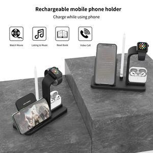 Image 5 - New Veloce di Ricarica 3 In 1 Qi Caricatore Senza Fili per Apple orologio 1 2 3 4 Airpods Per il iphone XS max XR X 8 Più di Samsung S9 S8 Nota 9