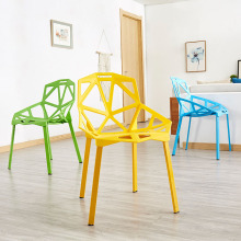 Nordic Plastic Hollow Back Chairs Dining Chairs for Dining Rooms Bedroom Furniture Living Room Kitchen Study Desk Office Chairs