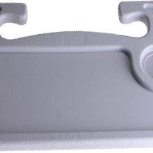 Car Multifunctional Main Driver Card Table Portable Car Laptop Desk and Steering Wheel Desk for Eating Laptop Work Grey & Black