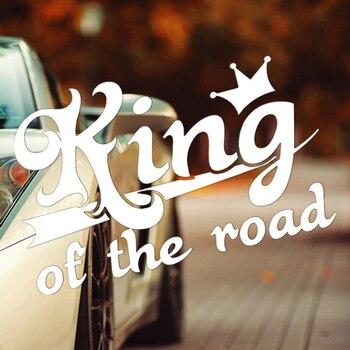 CK2999# king of the road funny car sticker vinyl decal reflective waterproof car auto stickers on car truck bumper rear window spider web hood rear window auto car vinyl decal stickers