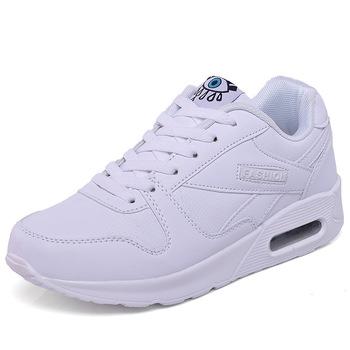 Damskie buty sportowe z amortyzacją buty sportowe Pu skórzane buty do tenisa białe różowe buty do biegania na świeżym powietrzu buty do biegania damskie tanie i dobre opinie Akexiya CN (pochodzenie) WOMEN oddychająca Masaż lekka waga w stylu butów do tenisa Średnia (B M) Cotton Fabric RUBBER