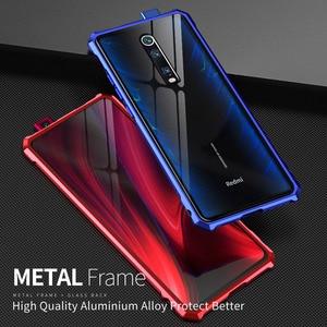 Image 1 - Xiaomi mi 9 t Pro 케이스 금속 케이스 용 금속 범퍼 커버 Xiao mi 9 t mi9 t 용 투명 유리 뒷면 커버 Luxury Shockproof