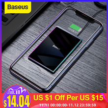 Baseus Ultra thin Wireless Charger For iPhone Xs Max XR 8 Portable 15W Fast Wireless Charging Pad for Huawei Mate 20 Pro P30 Pro